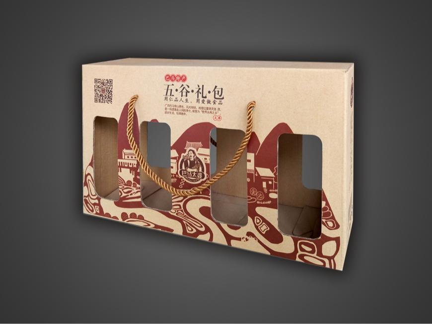 巴馬太婆米磚包裝盒